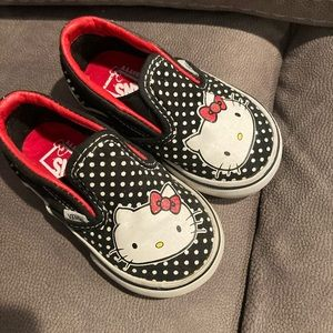 Hello Kitty Vans slip on shoes Baby size 4.5 used
